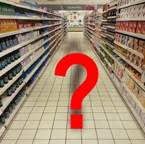 Supermarkt und Akquise