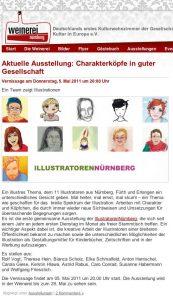 Website zur Ausstellung der Illustratoren Nürnberg