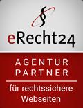 Agentur-Partner von erecht24 für rechtssichere Webseiten