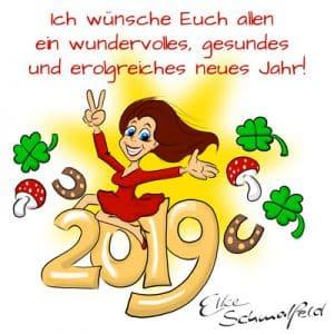Elke Schmalfeld wünscht ein frohes neues Jahr