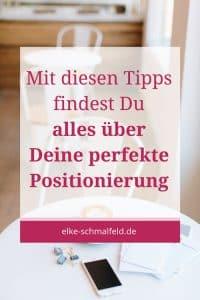 Perfekte Positionierung mit Elke Schmalfeld