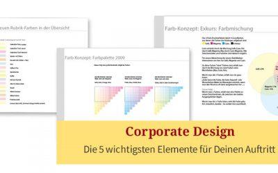 5 wichtige Elemente für ein Corporate Design