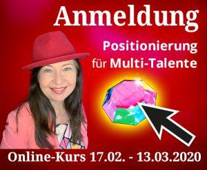 Anmeldung zum Kurs Positionierung für Multi-Talente