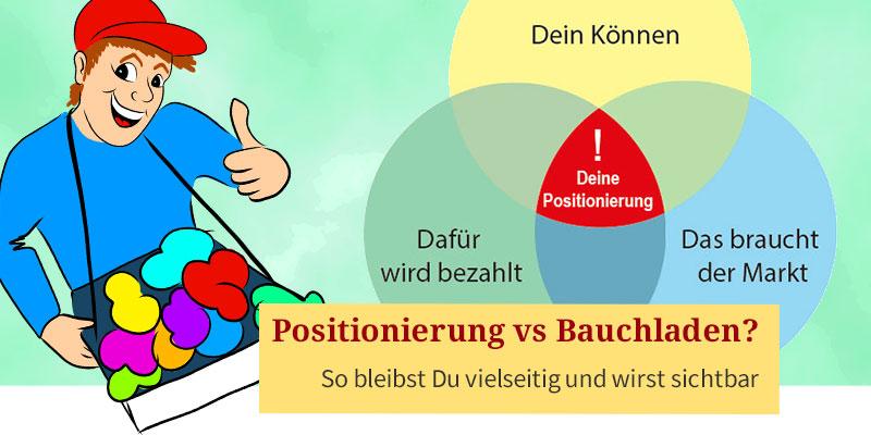 Positionierung vs. Bauchladen von Elke Schmalfeld
