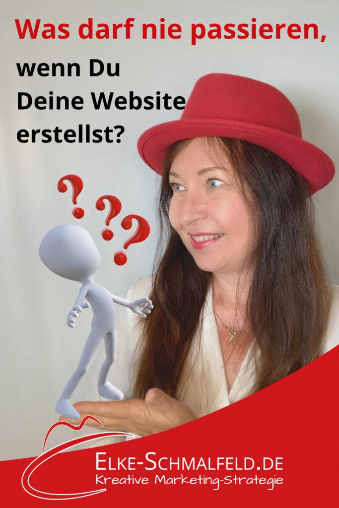 Was darf beim Website erstellen nie passieren?