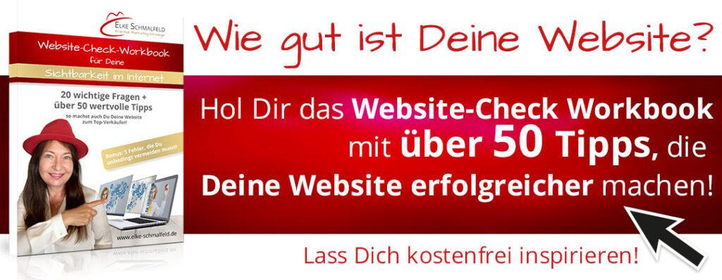 Website Check - Workbook mit Elke Schmalfeld
